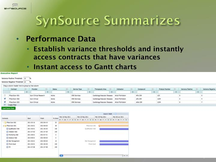 SynSource Summarizes