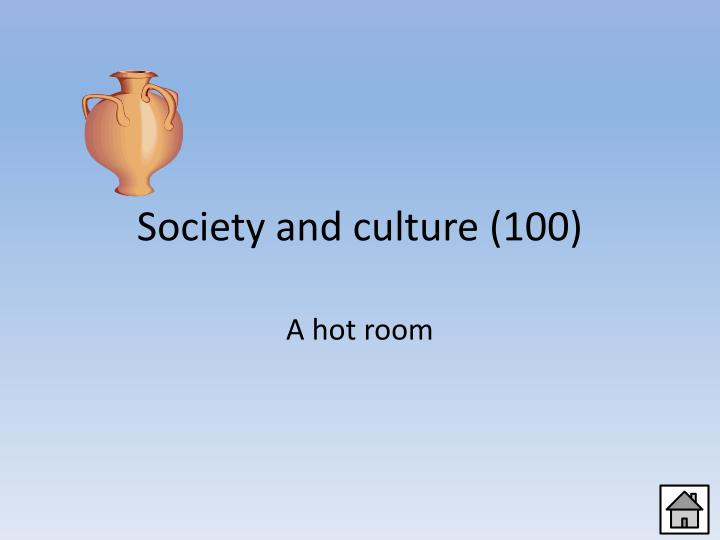 Society and culture (100)