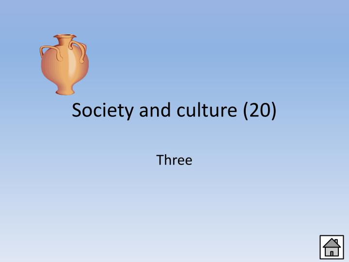 Society and culture (20)