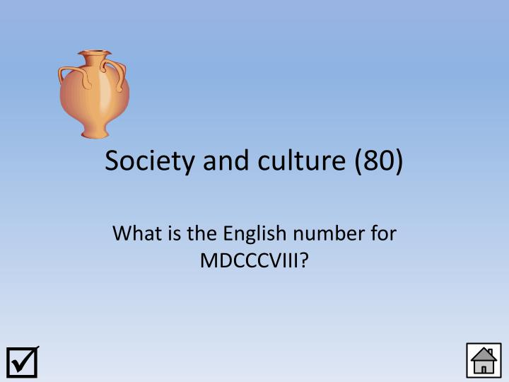 Society and culture (80)