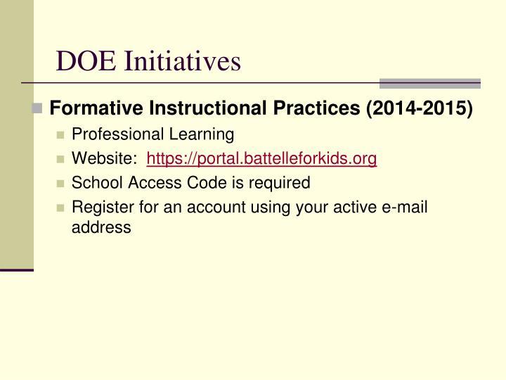 DOE Initiatives