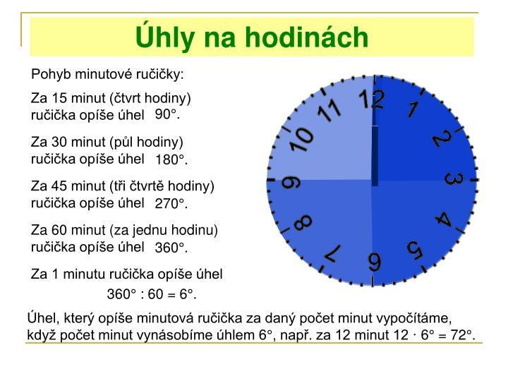 Úhly na hodinách
