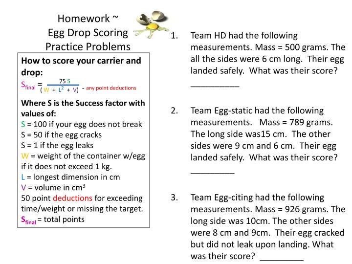 Homework ~