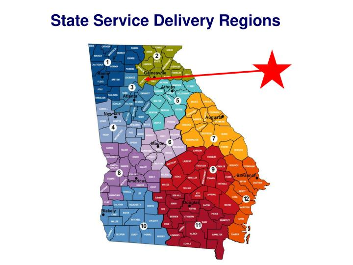 State Service Delivery Regions