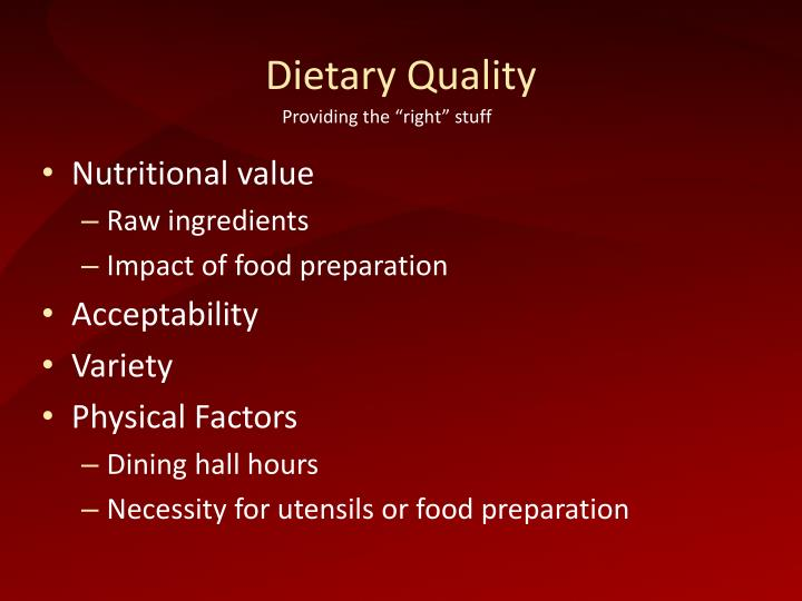 Dietary Quality