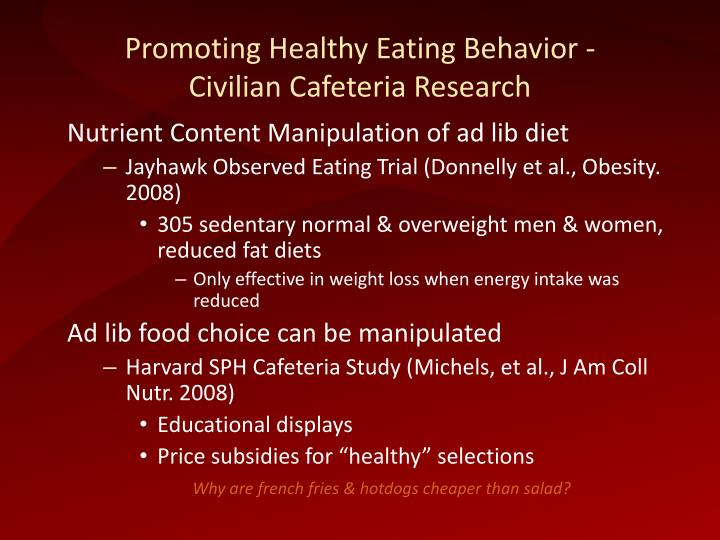 Promoting Healthy Eating Behavior -