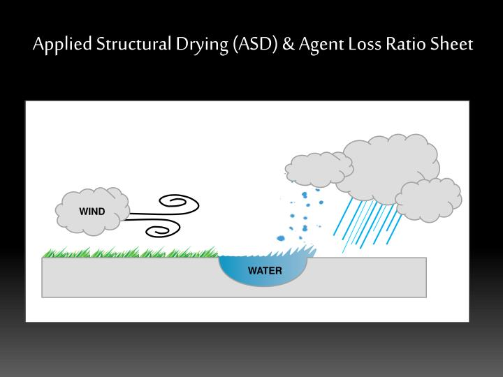 Applied structural drying asd agent loss ratio sheet