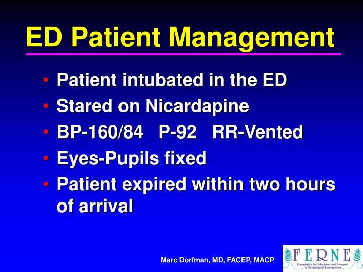 ED Patient Management