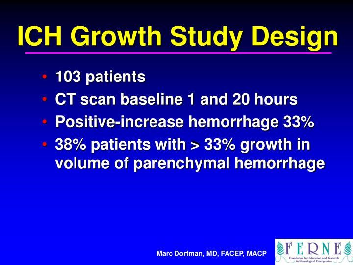 ICH Growth Study Design