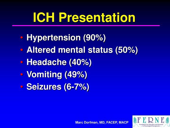 ICH Presentation