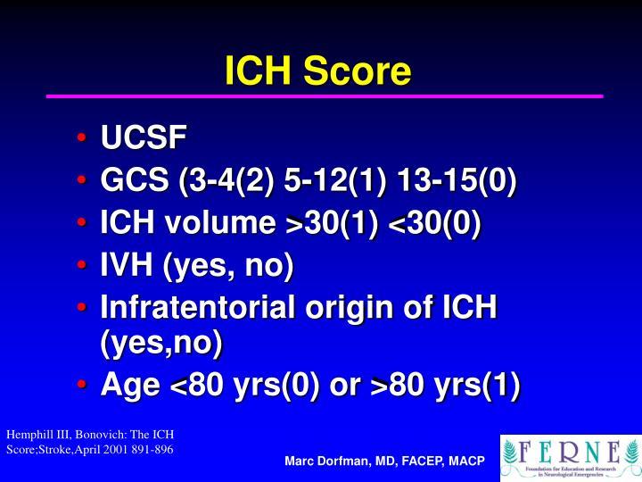ICH Score