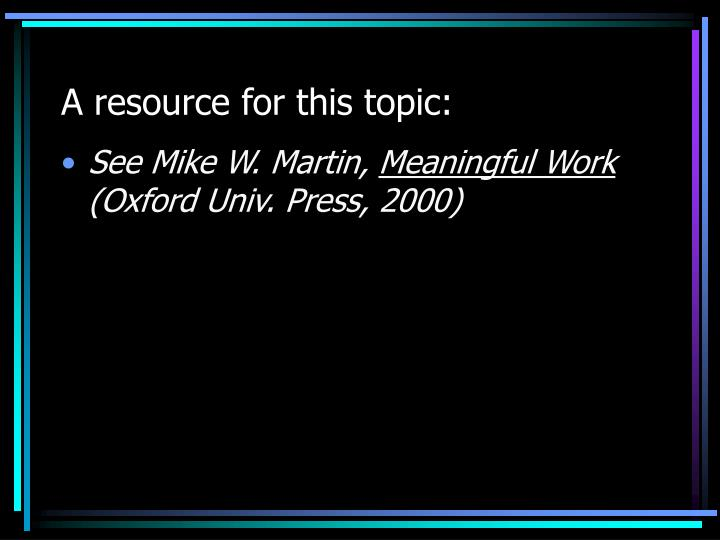 A resource for this topic: