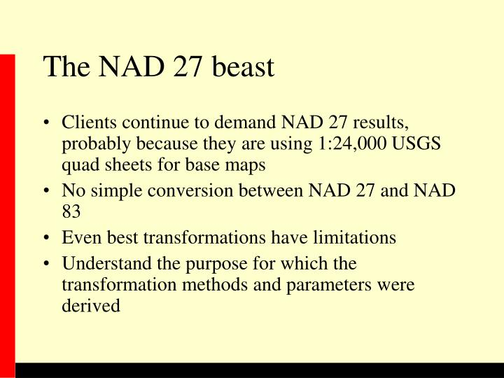The NAD 27 beast