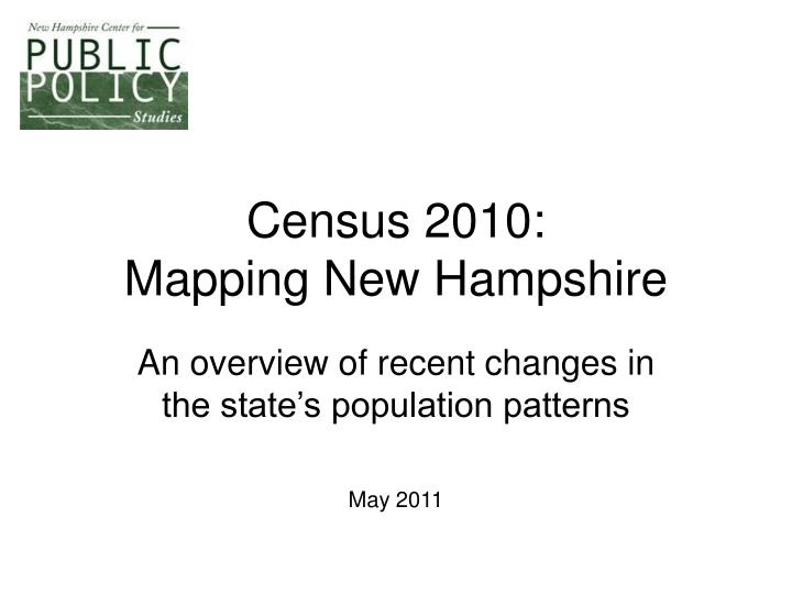 Census 2010 mapping new hampshire