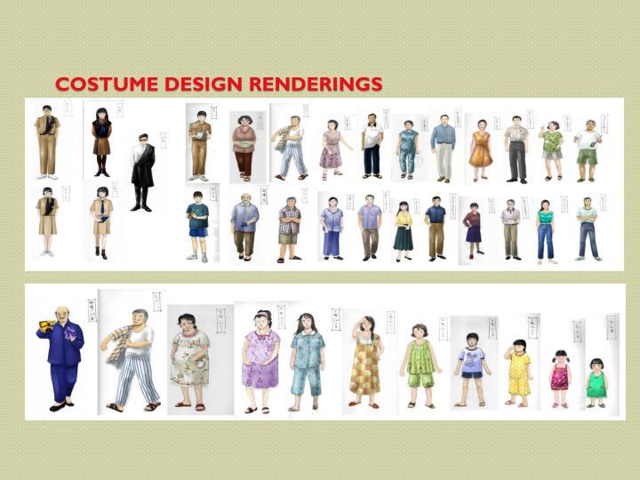 Costume Design Renderings