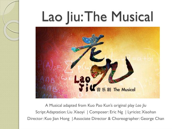 A Musical adapted from