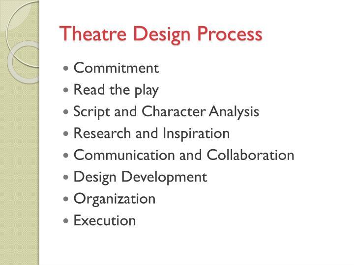 Theatre Design Process