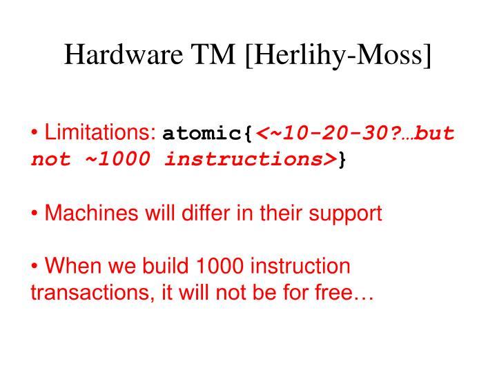 Hardware TM [Herlihy-Moss]