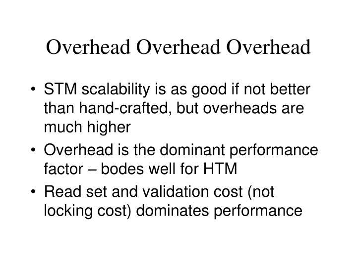 Overhead Overhead Overhead