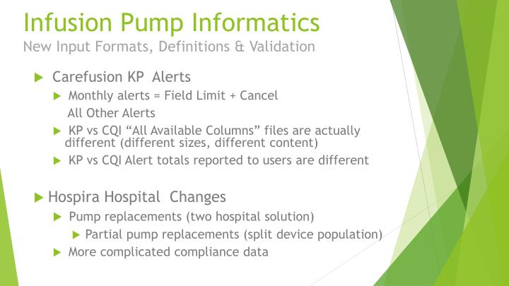 Infusion Pump Informatics
