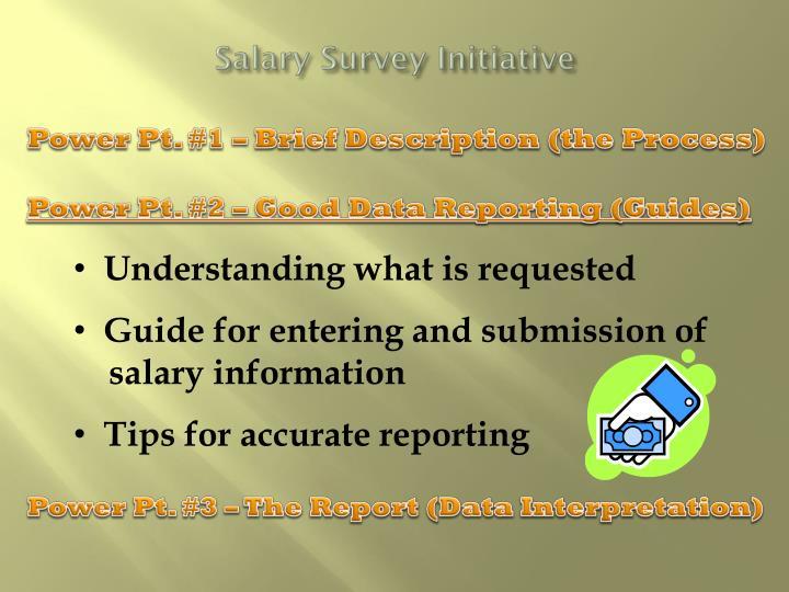 Salary Survey Initiative
