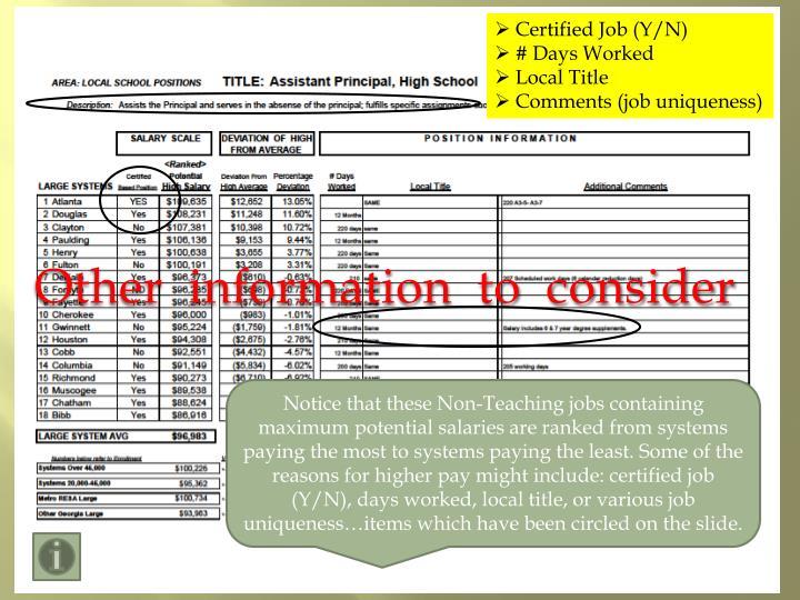 Certified Job (Y/N)