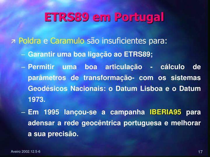 ETRS89 em Portugal