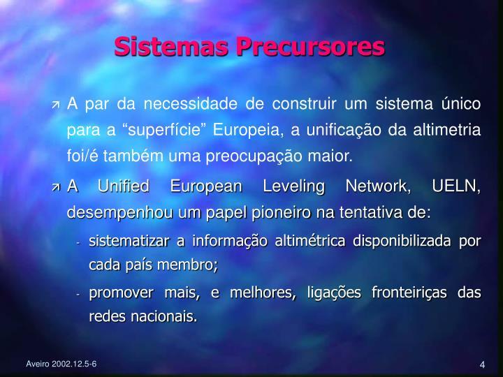 Sistemas Precursores
