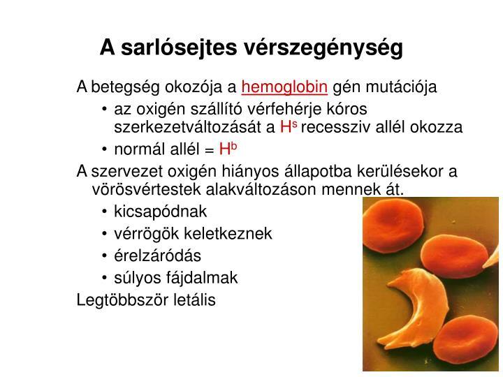 A sarlósejtes vérszegénység