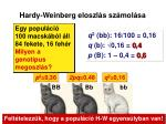 hardy weinberg eloszl s sz mol sa