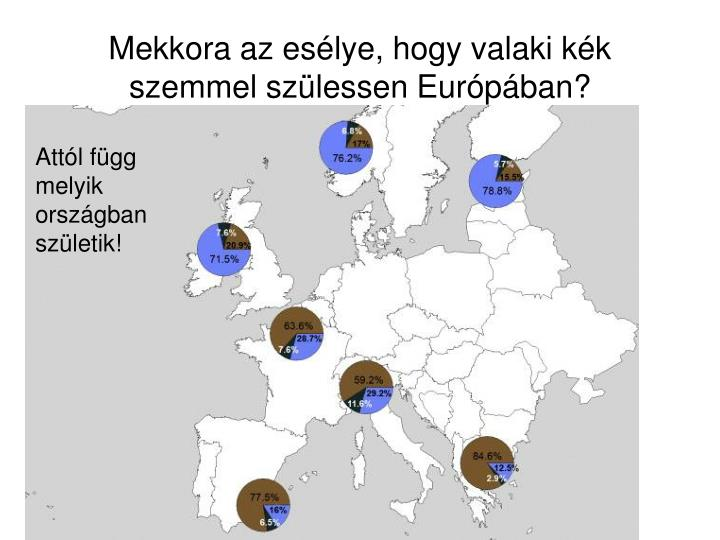 Mekkora az eslye, hogy valaki kk szemmel szlessen Eurpban?