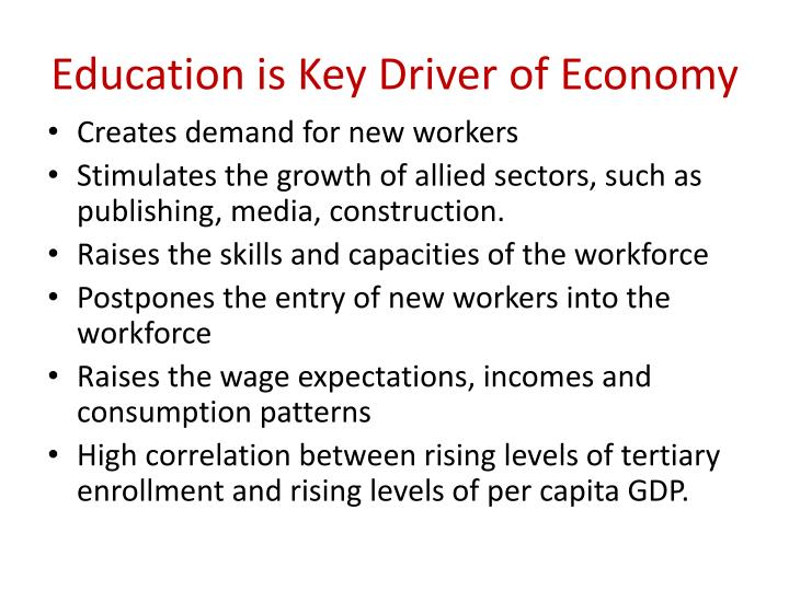 Education is Key Driver of Economy