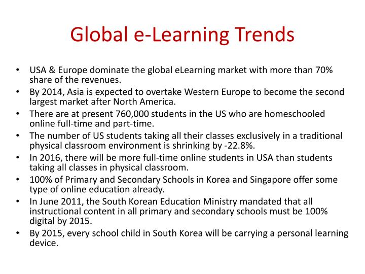 Global e-Learning Trends