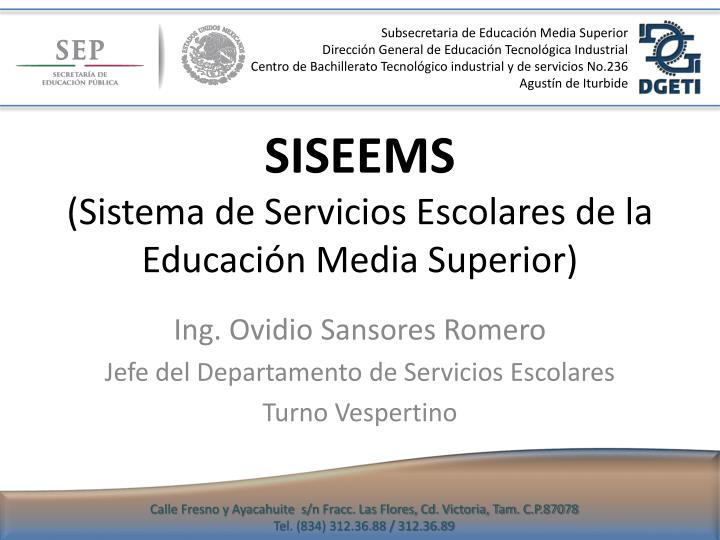 Subsecretaria de Educación Media Superior