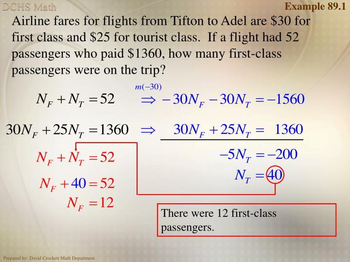 Example 89.1