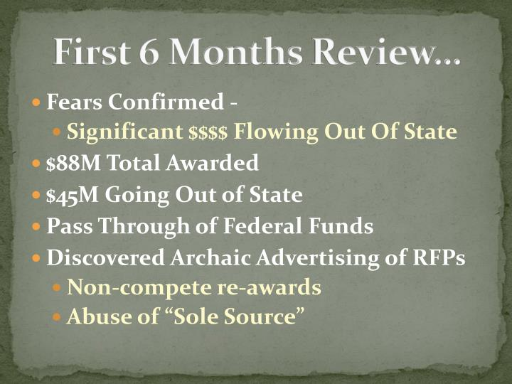 First 6 Months