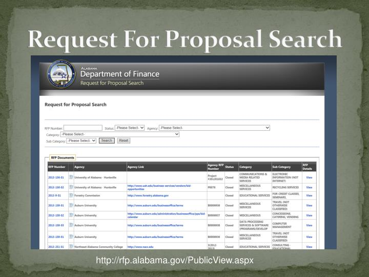 Request For Proposal Search