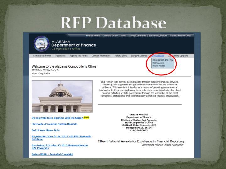 RFP Database