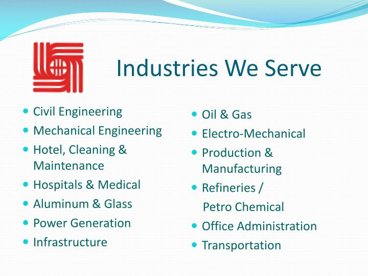 Industries We Serve