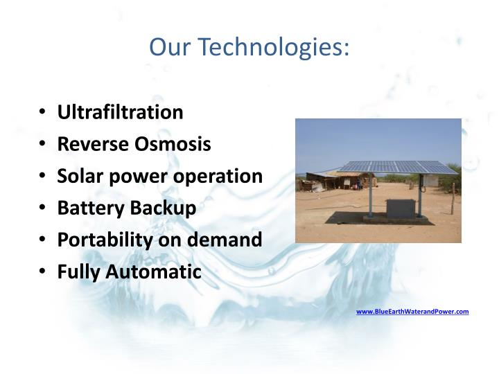 Our Technologies: