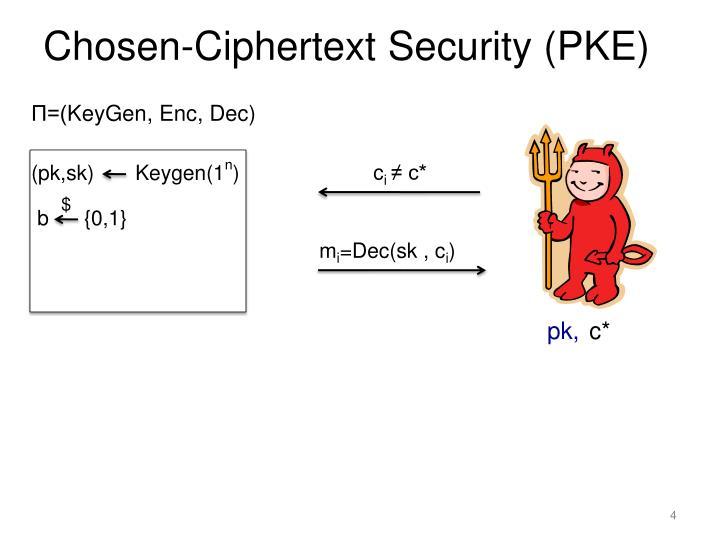 Chosen-Ciphertext Security (PKE)