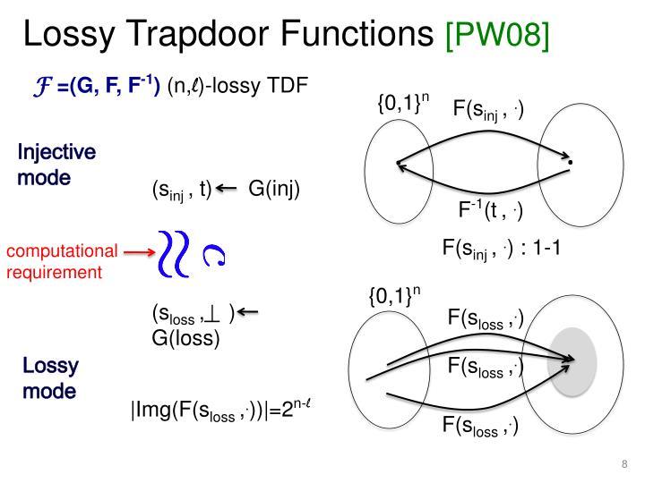 Lossy Trapdoor Functions