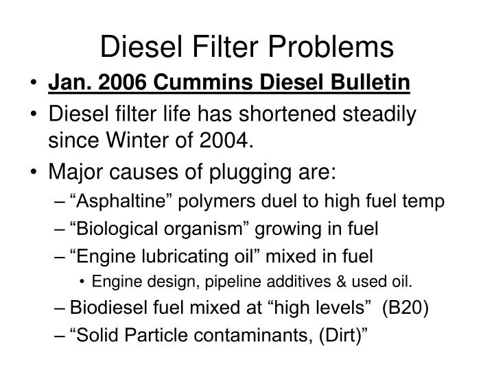 Diesel Filter Problems