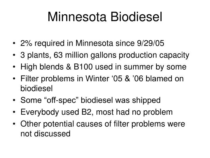 Minnesota Biodiesel