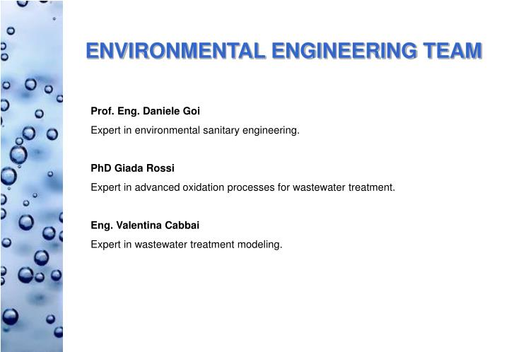 ENVIRONMENTAL ENGINEERING TEAM