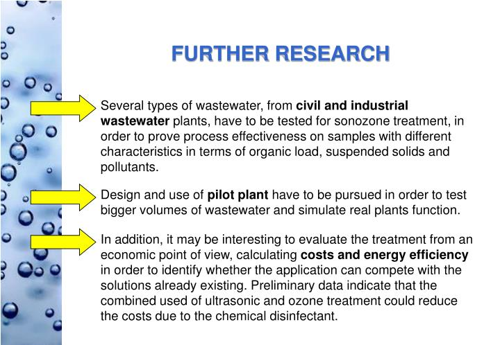Several types of wastewater, from