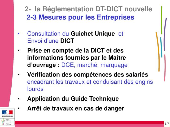 2-  la Réglementation DT-DICT nouvelle