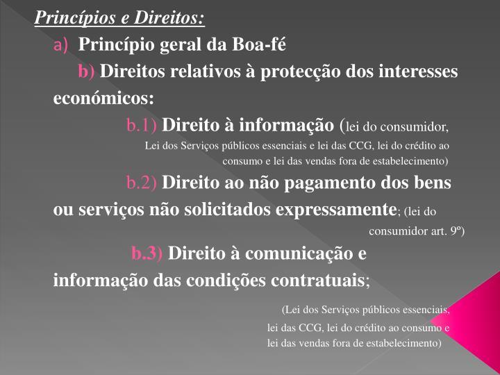 Princípios e Direitos: