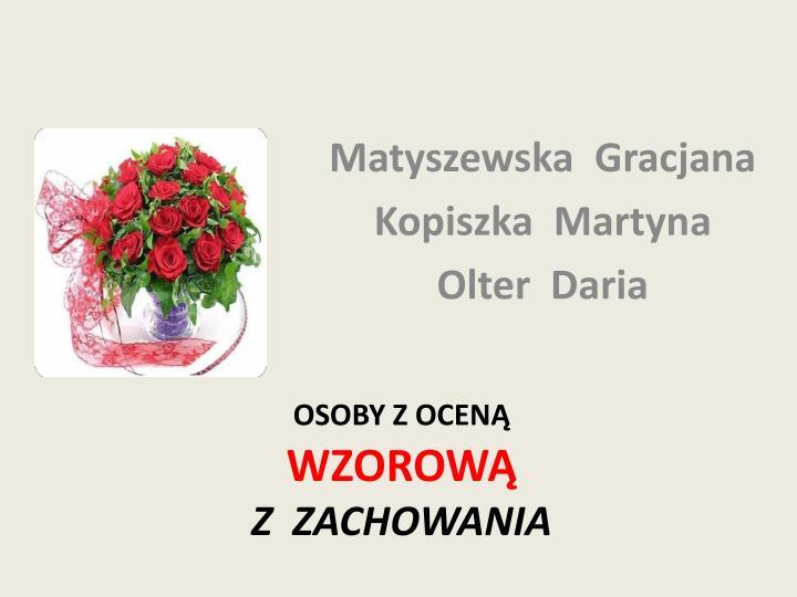 Matyszewska