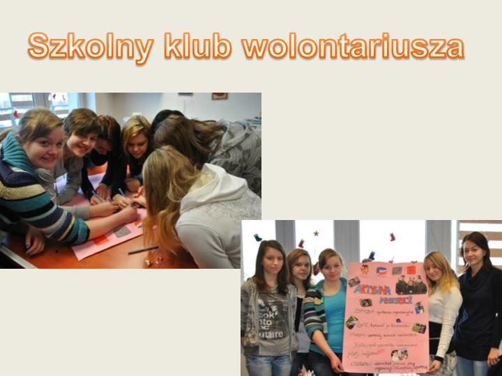 Szkolny klub wolontariusza